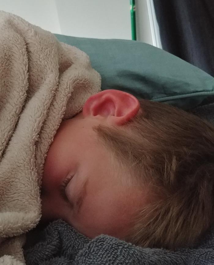 Corey sleeping